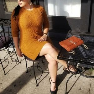 Dresses & Skirts - Mustard Knit Dress /Tunic